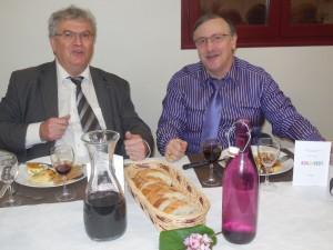 Mr et le Maire et moi lors de l'AG 2017
